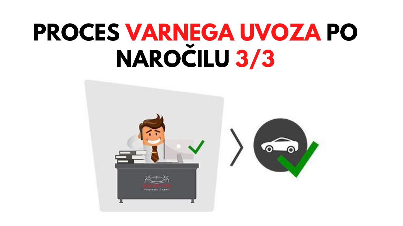 Proces varnega uvoza po naročilu 3/3: Avtomobil je že v Sloveniji, kaj pa sedaj?