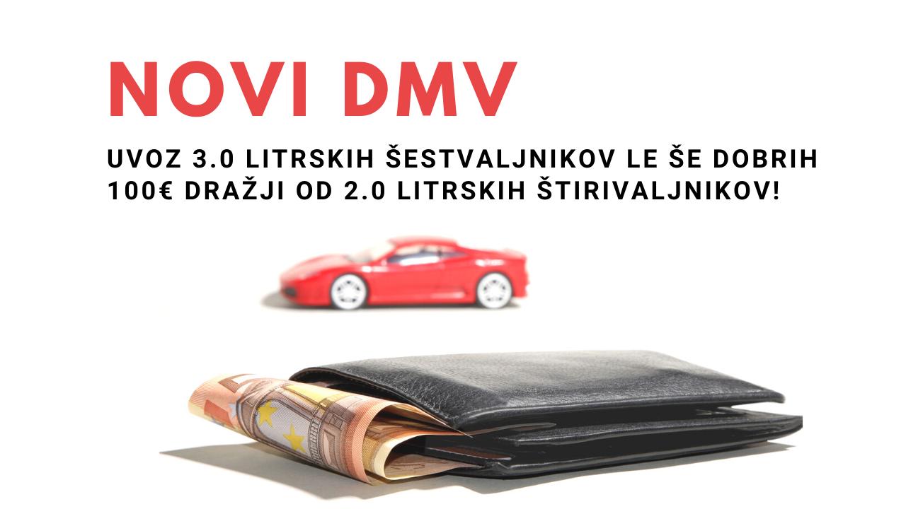 Novi DMV: Uvoz 3.0 litrskih šestvaljnikov le še dobrih 100€ dražji od 2.0 litrskih