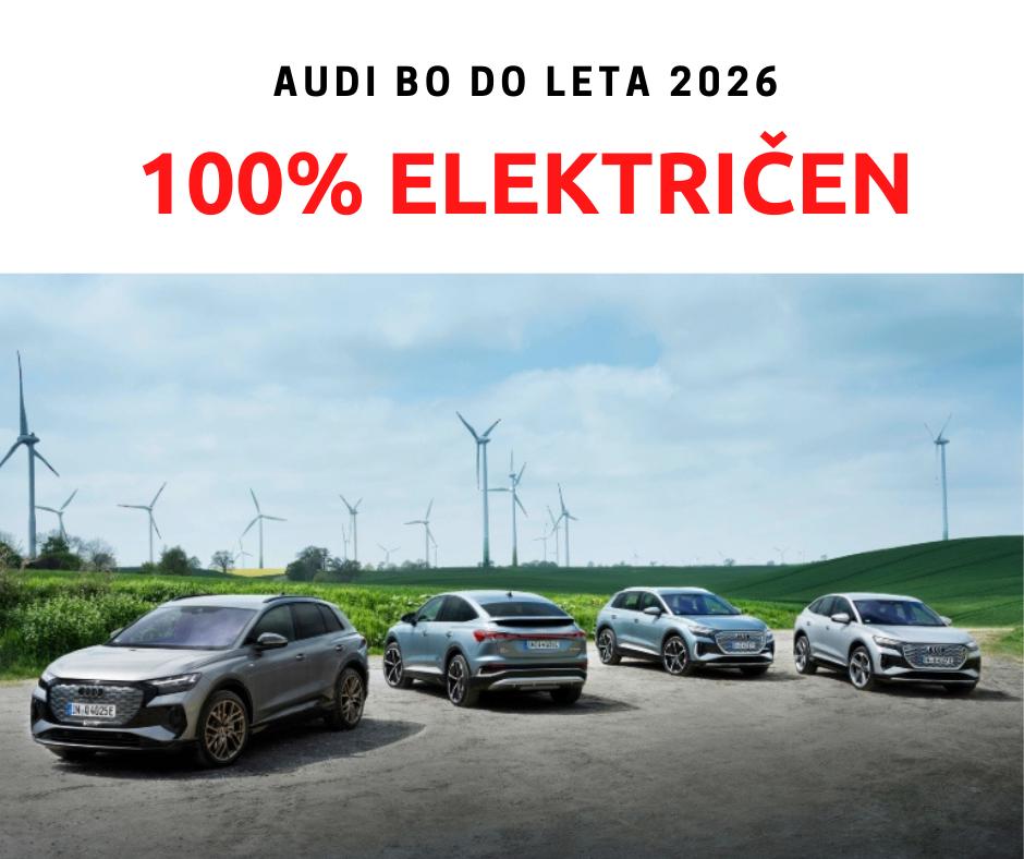 Audi bo do leta 2026 ustavil proizvodnjo bencinskih in dizelskih modelov